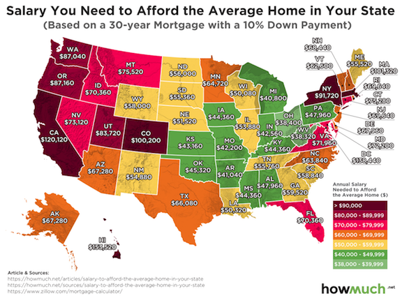 Cost Of Living By State Map Cost of Living by State With Visuals