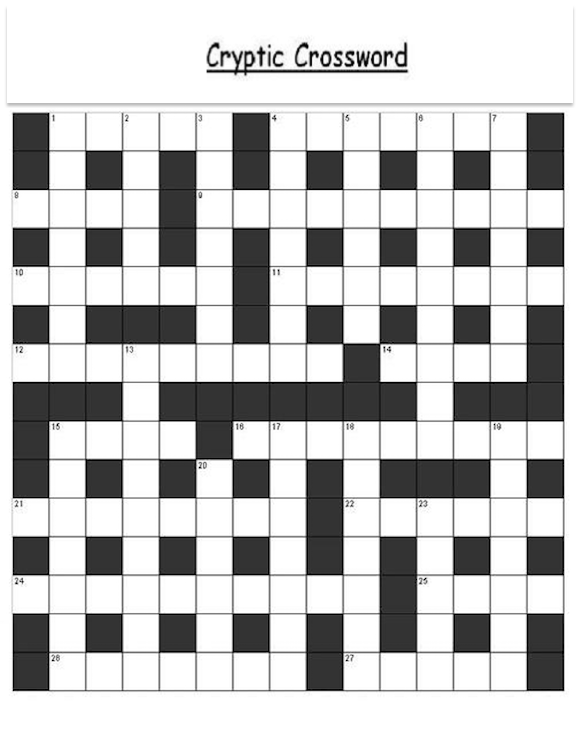 This is a photo of Printable Cryptic Crosswords within crossword puzzle