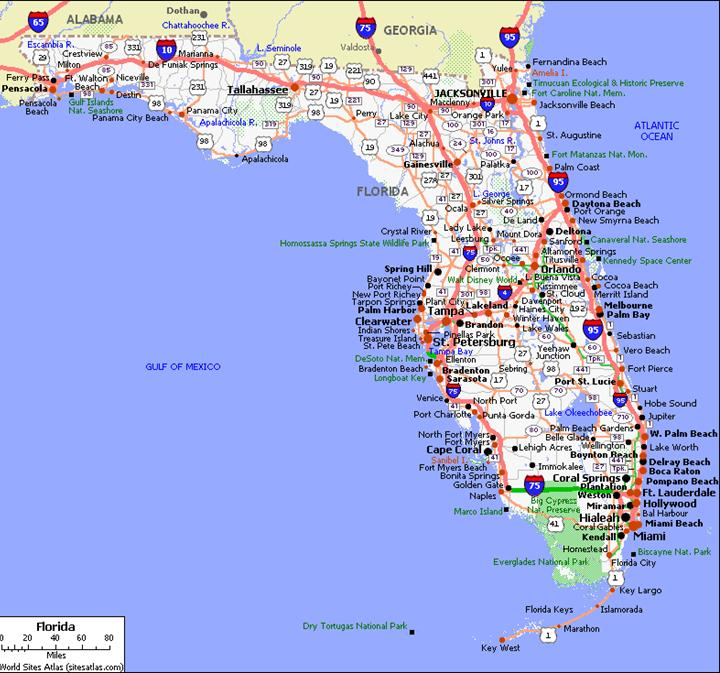Map Of State Of Florida With Cities.Florida State Road Map Official Statewide Regional
