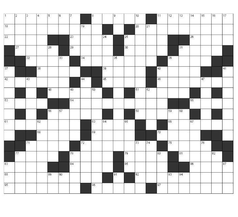 photo relating to Fill in Crossword Puzzles Printable called Absolutely free Printable Crossword Puzzles