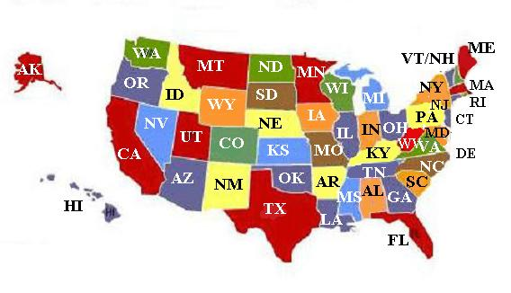 State Abbreviations on